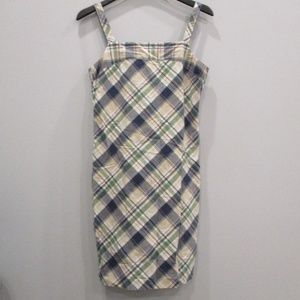 Tommy Hilfiger Plaid Dress Blue/Green Size 8